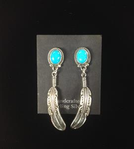 025 Sterling Silver and Turquoise Earrings